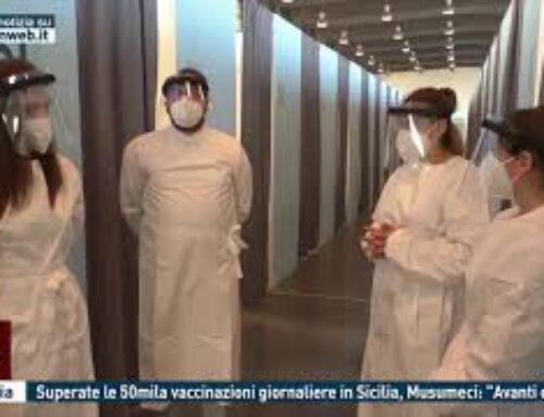 """Catania – Superate le 50mila vaccinazioni giornaliere in Sicilia, Musumeci: """"Avanti così"""""""