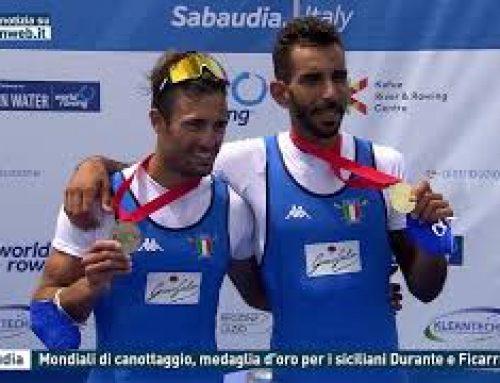 Sabaudia – Mondiali di canottaggio, medaglia d'oro per i siciliani Durante e Ficarra