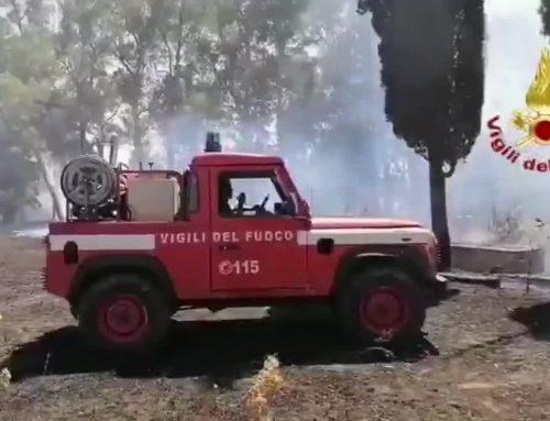 Incendio nel Cagliaritano