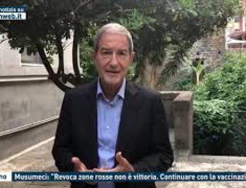 """Palermo – Musumeci: """"Revoca zone rosse non è vittoria. Continuare con la vaccinazione"""""""