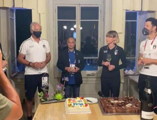 Festa a Casa Italia a Tokyo per i 33 anni di Federica Pellegrini