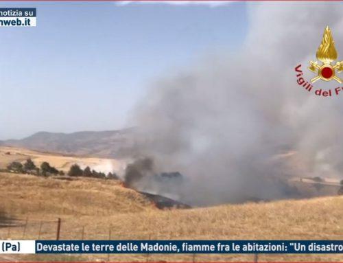 """Gangi (Pa). Devastate le terre delle Madonie, fiamme tra le abitazioni: """"Un disastro"""""""