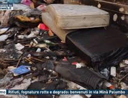 Palermo – Rifiuti, fognature rotte e degrado: benvenuti in via Minà Palumbo