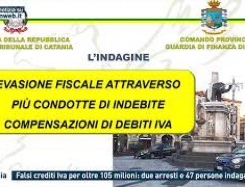Catania – Falsi crediti Iva per oltre 105 milioni: due arresti e 47 persone indagate