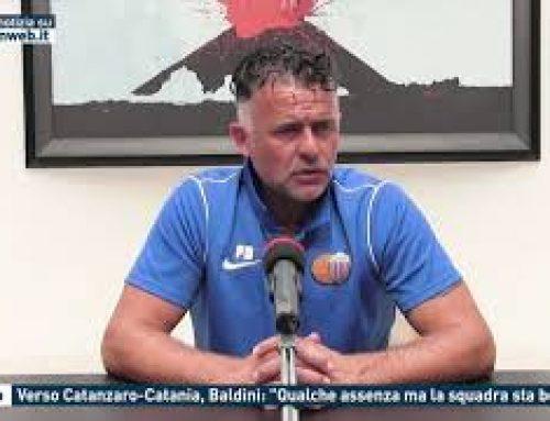 """Calcio – Verso Catanzaro-Catania, Baldini: """"Qualche assenza ma la squadra sta bene"""""""