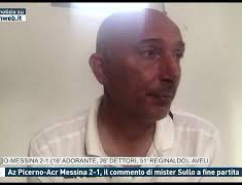 Calcio – Az Picerno-Acr Messina 2-1, il commento di mister Sullo a fine partita