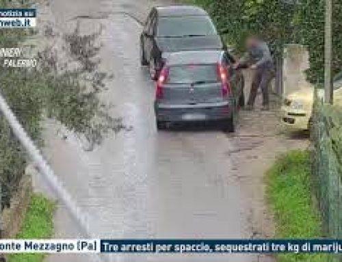 Belmonte Mezzagno (Pa) – Tre arresti per spaccio, sequestrati tre kg di marijuana