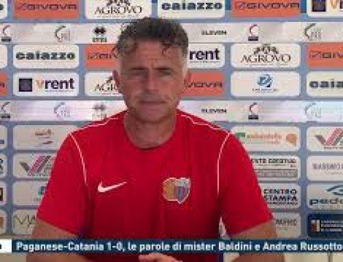 Calcio – Paganese-catania 1-0, le parole di mister Baldini e Andrea Russotto