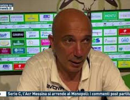 Calcio – Serie C, l'Acr Messina si arrende al Monopoli: i commenti post partita
