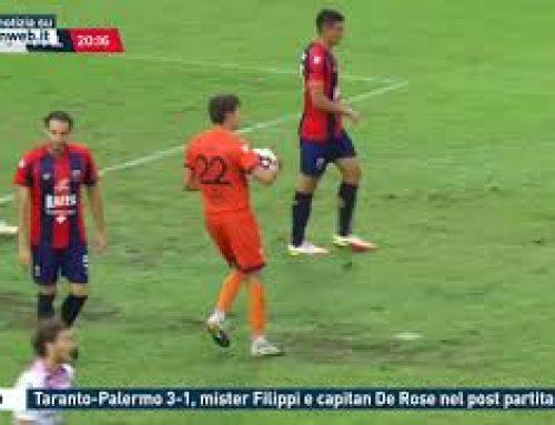 Calcio – Taranto-Palermo 3-1, mister Filippie capitan De Rose nel post  partita