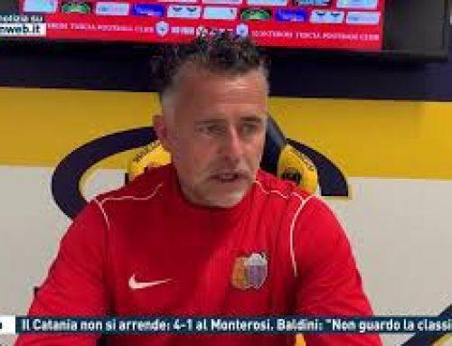 """Calcio – Il Catania non si arrende: 4-1 al Monterosi. Baldini: """"Non guardo la classifica"""""""