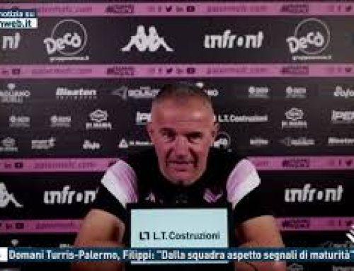 """Calcio – Domani Turris-Palermo, Filippi: """"Dalla squadra aspetto segnali di maturità"""""""